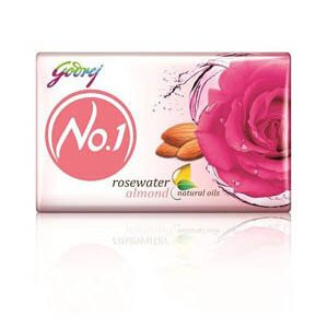 Godrej No 1 Bathing Soap Rosewater And Almonds 100 Grams Pack Of 4