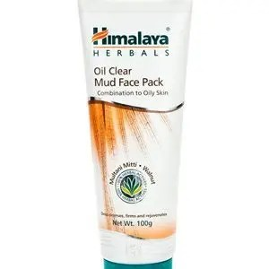 Himalaya Face Pack Oil Clear Mud 100 Grams Tube