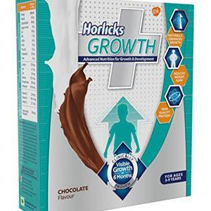 Horlicks Health Drink Growth Plus Nutrition Chocolate 200 Grams Refill Pack