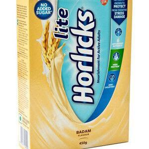 Horlicks Lite Health Nutrition Drink Badam Flavor 450 Grams Carton