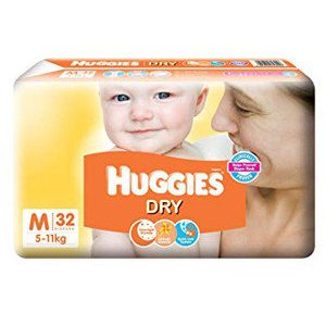 Huggies New Dry Diapers – Medium, 32 pcs