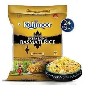 Kohinoor Basmati Rice – Extra Long, 1 kg Pouch