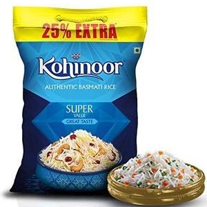 Kohinoor Basmati Rice – Super Value, 25% Extra, 5 kg