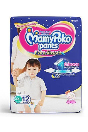 Mamy Poko Pants Style Diapers -Xxl, 15-25 Kg, 12 pcs Pouch