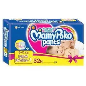 Mamy Poko Pants – For New Born, 3-5 kg, 32 pcs