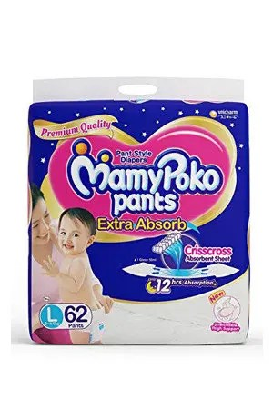 Mamypoko Pants Style Diapers - Large, 62 pcs