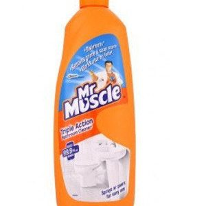 Mr. Muscle Toilet & Bathroom Cleaner – Triple Action, 450 ml