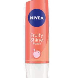 Nivea Fruity Shine Lip Balm Peach 4.8 Grams
