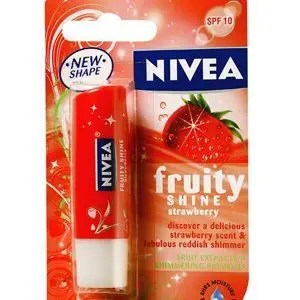 Nivea Lip Balm Fruity Shine Strawberry 4.8 Grams