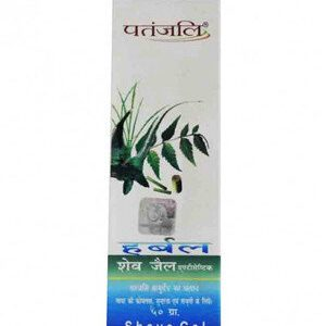 Patanjali Herbal Antiseptic Shave Gel 50 Grams Tube