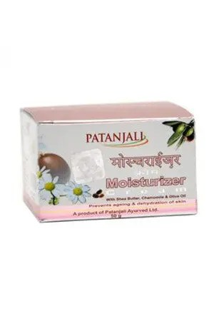 Patanjali Moisturizer With Shea Butter Chamomile And Olive Oil 50 Grams Carton