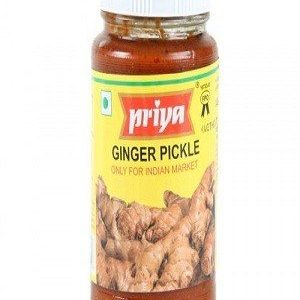 Priya Pickle - Ginger, 300 gm Bottle
