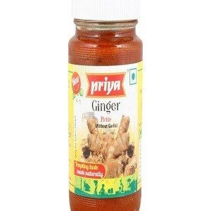 Priya Pickle – Ginger (With Garlic), 300 gm Bottle
