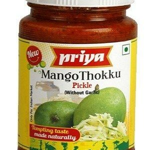 Priya Pickle – Mango Thokku (Without Garlic), 300 gm Bottle