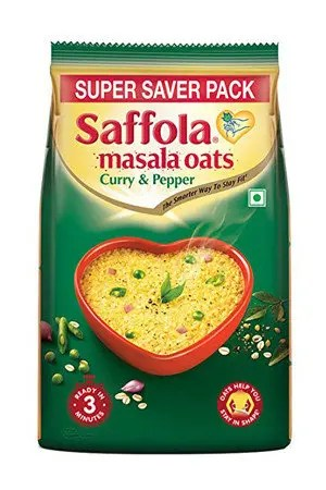 Saffola Masala Oats - Curry & Pepper, 500 gm