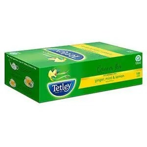 Tetley Green Tea Bags Plain 100 Pcs Carton