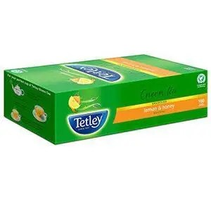 Tetley Green Tea Bags Lemon And Honey 100 Pcs Carton