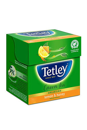 Tetley Green Tea Bags Lemon And Honey 10 Pcs Carton