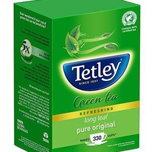Tetley Green Tea Long Leaf 100 Grams Carton