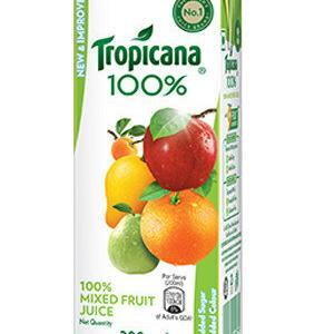 Tropicana 100 Percent Juice Mixed Fruit 200 Ml Tetra