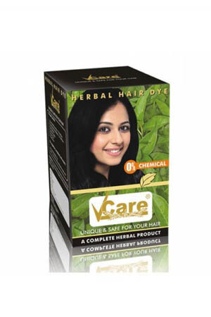 Vcare Herbal Hair Dye Brown 25 Ml
