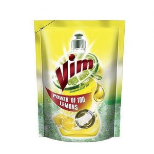 Vim Dishwash Gel - Lemon, 1 ltr