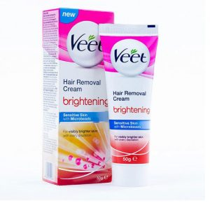 Veet Hair Removal Cream Brightening Sensitive Skin 25 Grams
