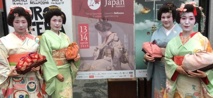 Geisha giapponesi al Japan Matsuri a Bellinzona