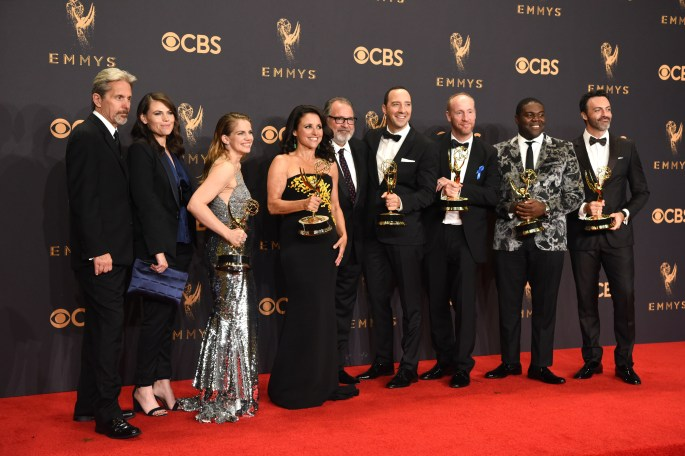 """""""Veep"""" won the Emmy award for Outstanding Comedy Series at the 69th Emmy Awards on Sunday, Sept. 17, 2017 at the Microsoft Theater in Los Angeles, California. (Photo by Michael Owen Baker / SCNG)"""