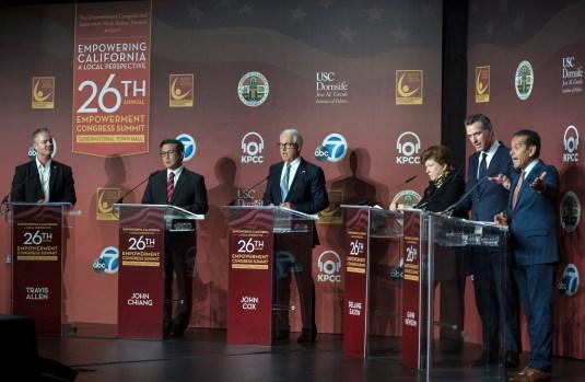 Newsom leads Villaraigosa in California governor's race ...