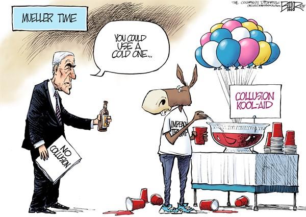 Putting Down The Collusion Kool Aid Political Cartoons
