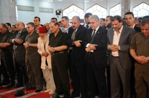 Hamdeen Sabahy joins prayers of the Sinai soliders funeral at Al Rashdan Mosque - Mohamed Omar