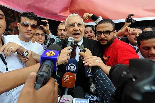 Aboul Fotouh's Strong Egypt party proposed a modification of the constitutional declaration recently released by President Morsy. (DNE/ File Photo/ Mohamed Omar)