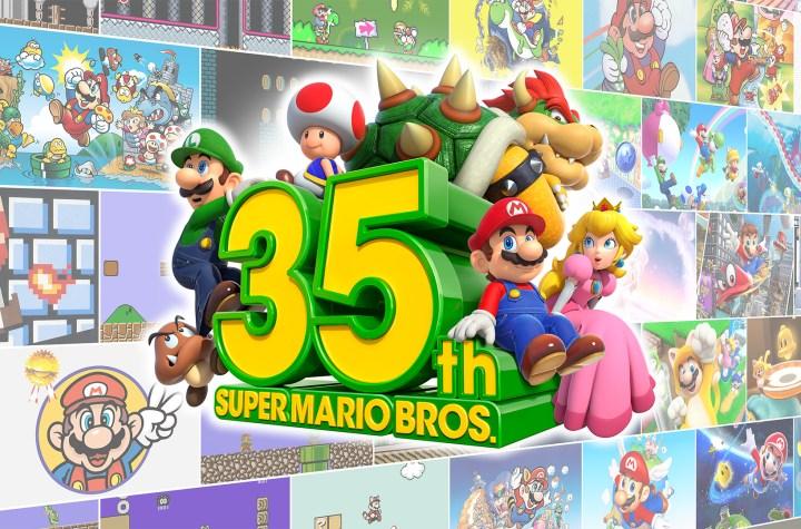 Super Mario 35 logo