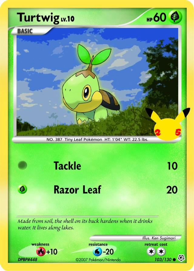 Pokemon 25 Oversized Turtwig