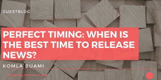 Perfect Timing: when is the best time to release news?