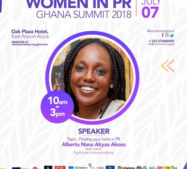 Alberta Nana Akyaa Akosa: Speaker at Women in PR Ghana Summit 2018