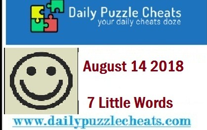 7 Little Words Daily Puzzle Answers August 14 2018