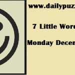 7 little words December 3 2018