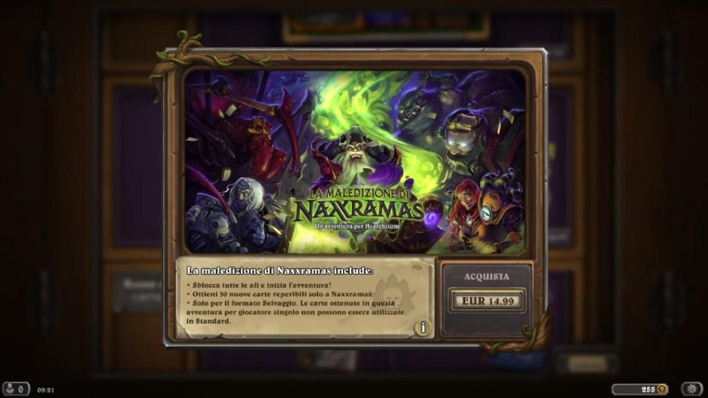 avventura naxxramas offerta