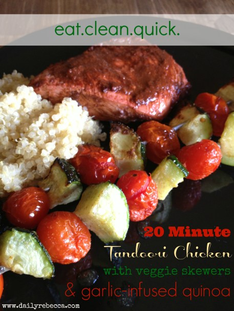 Tandoori Chicken with Veggies and Quinoa