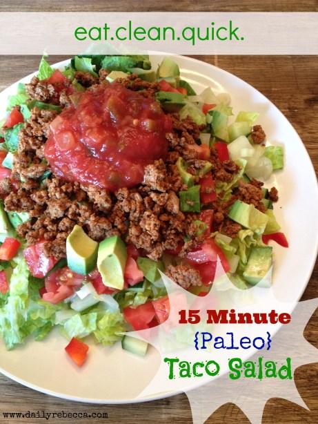 15 Minute paleo taco salad