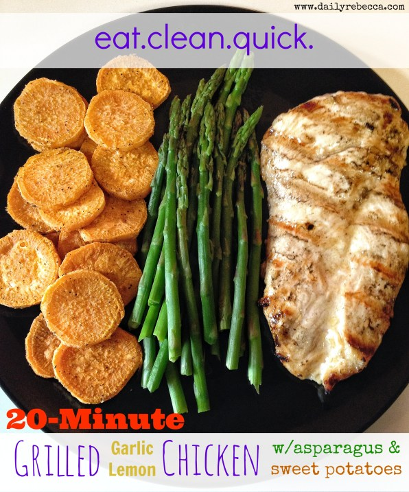 20-minute garlic lemon chicken