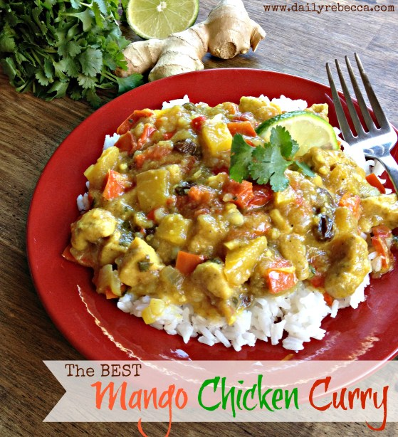 The BEST Mango Chicken Curry