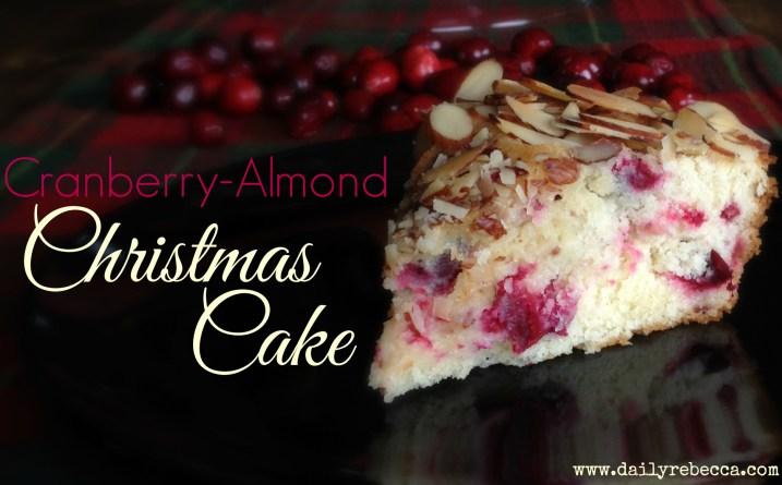 delicious cranberry almond christmas cake