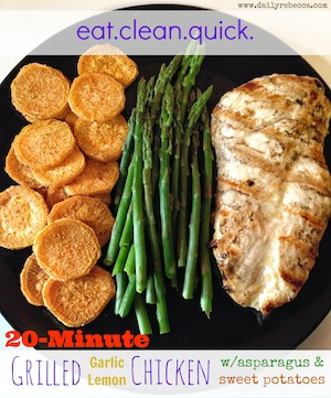 20 Minute Garlic Lemon Chicken