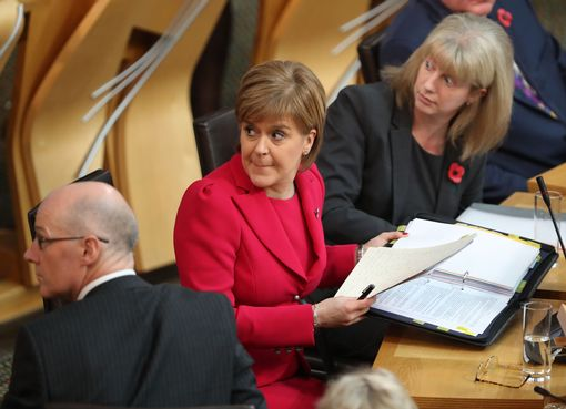 Sturgeon in parliament today
