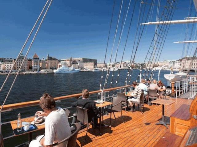 Stay at a Full-rigged Steel Ship in Stockholm