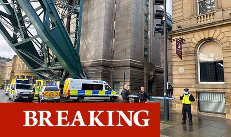 Air ambulance on scene of major police incident as man falls from bridge