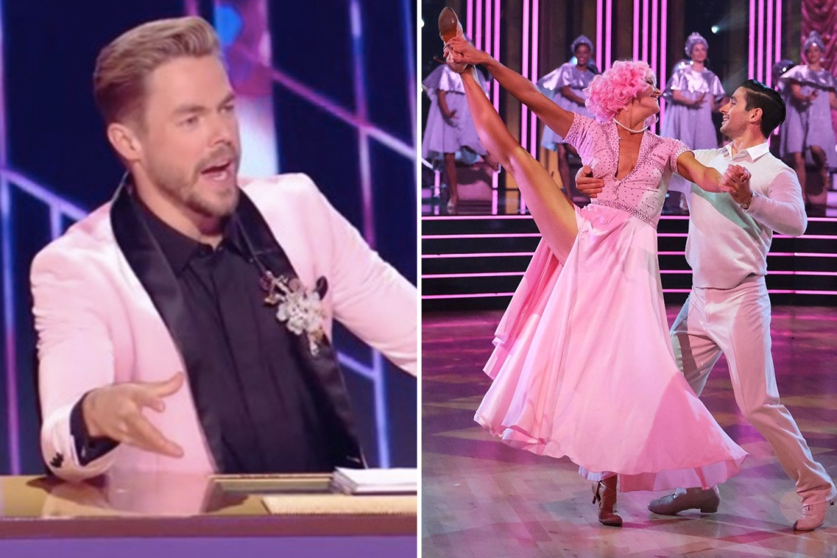 DWTS star Derek Hough SLAMMED for 'getting in the way' of Amanda Kloots' 1st perfect score of the season on Grease night